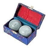SUPVOX 2pcs Boules de Santé Chinoises Exercice Boules de Massage pour Soulagement de Main et Corp Vert