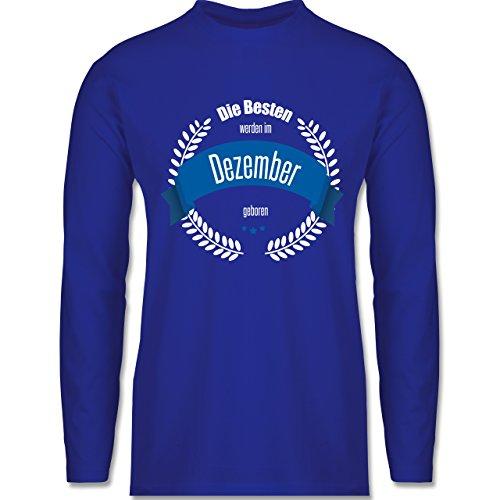 Geburtstag - Die Besten werden im Dezember geboren - Longsleeve / langärmeliges T-Shirt für Herren Royalblau