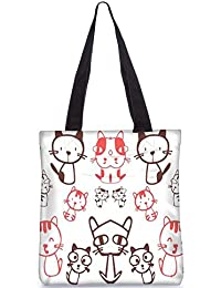 Snoogg Tote Bag 13.5 X 15 Inches Shopping Utility Tote Bag Made From Polyester Canvas - B01GCILI4A