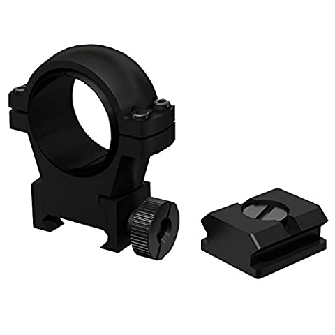 Laserluchs fixation 30mm LA-BRACKET03 incl. rail Weaver pour tous les Laserluchs IR-azurants 30mm diamètre de l