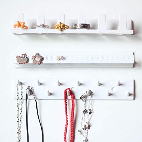 RENNICOCO Schmuck Display Rack 9-in-1 Schmuck-Display-Organisator Klebe Paste Wand hängende Halskette Hänger (Halskette Hanger Wandhalterung)
