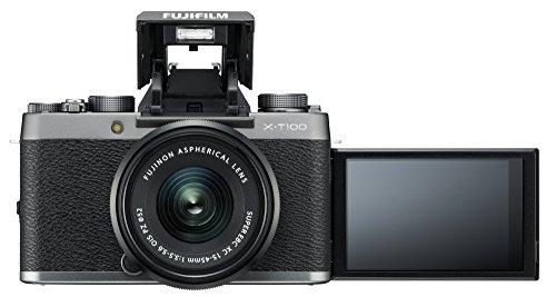 """Fujifilm X-T100 w/XC15-45mm Lens Kit Dark Silver Mirrorless Digital Camera with 3.0"""" TFT LCD"""