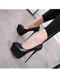 Yukun Tacchi alti Autunno 16Cm Ultra High Heels Night Stiletto Impermeabile  Piattaforma Discoteca Scarpe Da Donna e6b19117f92