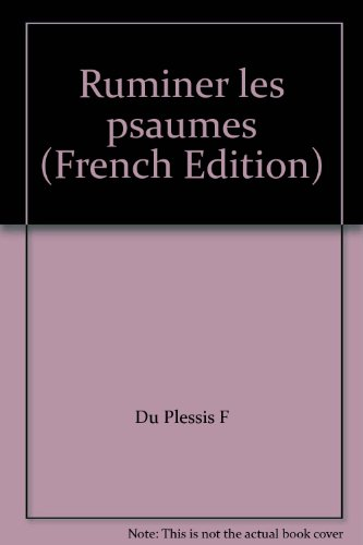 Ruminer les Psaumes