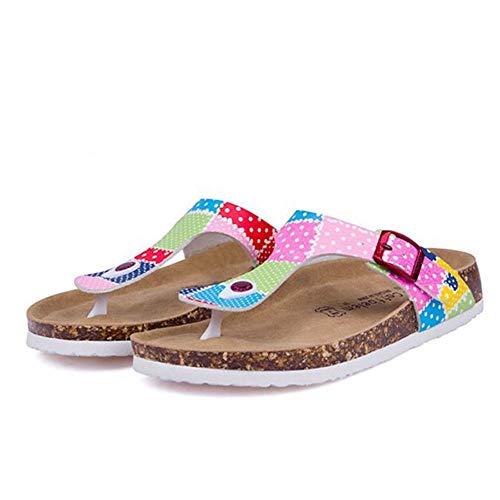WDDNTX Flip Flops Cork'S Frauen Skid Lässige Mode Hausschuhe Sommer Strand, 42 -