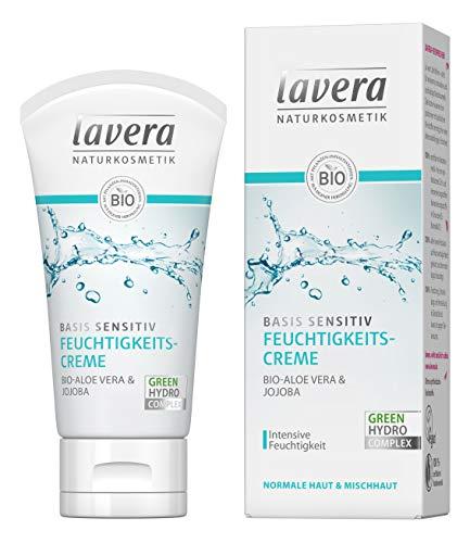 lavera basis sensitiv Feuchtigkeitscreme Bio Aloe Vera & Jojoba ∙ Intensive Feuchtigkeit ∙ Vegan...