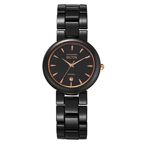 ALEXANDER MILTON - montre homme - TARVOS, noir/dore rose