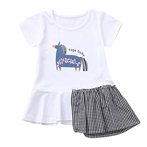 Quaan Kleinkind Baby Kinder Mädchen Pferd Blumen Patchwork Freizeitkleid Prinzessin Kleider Ärmellos Spitze 3D Tutu Urlaub Prinzessin Kleider (Kleider Mädchen 12 Größe Urlaub)