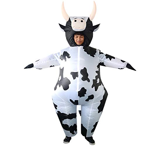 GaLon Cosplay Props Anzug, Kreatives Spielzeug Halloween Weihnachten große Kuh verkleiden Aufblasbarer Anzug Partei Spoof (Kuh Maskottchen Kostüm Für Erwachsene)