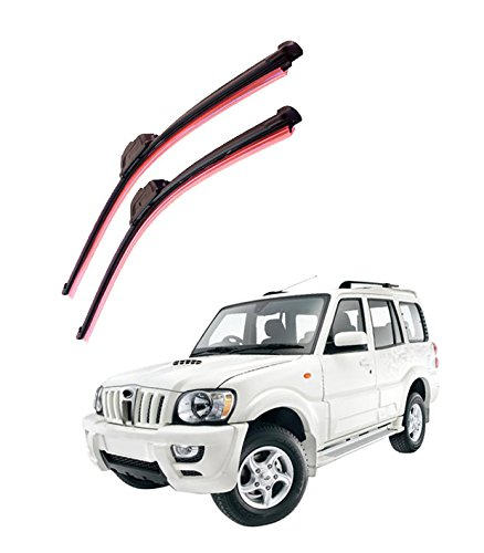 "autofurnish frameless silicon wiper blades for mahindra scorpio (d)20"" (p)20"" Autofurnish Frameless Silicon Wiper Blades for Mahindra Scorpio (D)20″ (P)20″ 41Sd1jZAc4L"