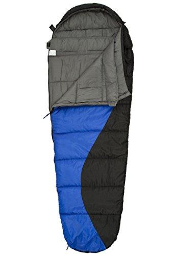 CAMPZ Desert Pro 300 Schlafsack blau/schwarz Ausführung Left 2019 Quechua Schlafsack