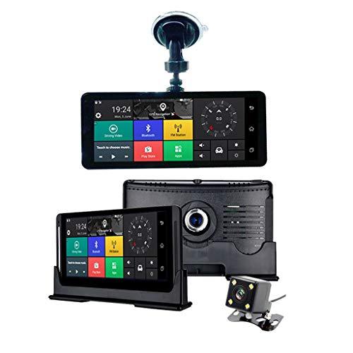 XHYA Sprint-Kamera-Auto-Kamera des Full HD-Auto-DVR GPS-Navigators 4G ADAS mit GPS-fahrendem Recorder 7,84 Zoll IPS HD Bildschirm 170 ° Weitwinkel -