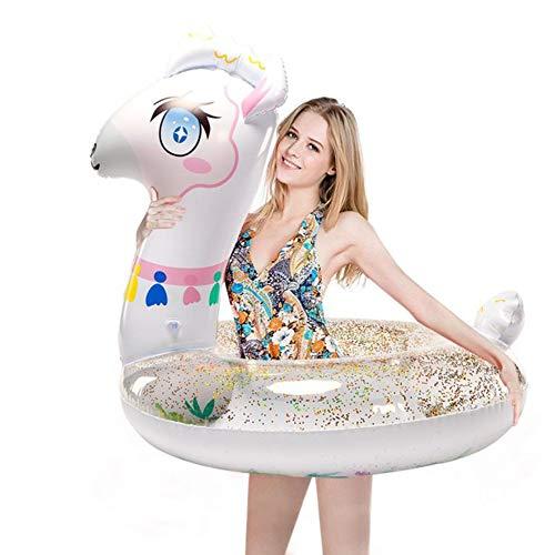 WISHTIME Lama Pool Float Schwimmring Lama Fahrt Auf Party Rohr Alpaka Aufblasbare Schwimmring Wasserversorgung Spielzeug Strand Pool Für Erwachsene und Kinder