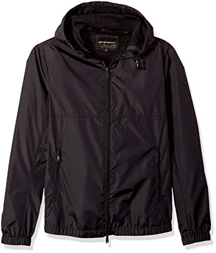 Emporio Armani Herren Zip Up Poly Sweatshirt, Navy, 58