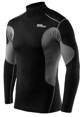 Langärmliges Total Compression Advanced SuperThermal Basisschicht-Unterhemd Funktionsunterwäsche Armour Kompressionsshirt für Männer und Jungen