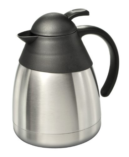Edelstahl Isolierkanne 1,0 l Edelstahlkanne Thermokanne Kaffee Tee Kanne