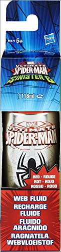 Spiderman Morales Miles Ultimate Kostüm (Ultimate Spider-Man Kid Arachnid Web Fluid (rot) Nachfüll-Pack für Web)