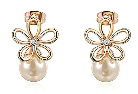 Daesar Gold Plated Earrings Womens Celtic Knot Stud Earring Flower