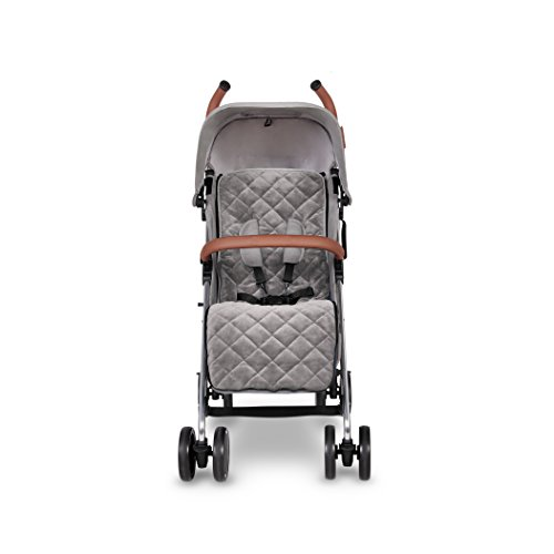 Ickle Bubba Baby Discovery Max Stroller| Lightweight Stroller Pushchair | Compact Fold Technology for Easy Transport and Storage | UPF 50+ Extendable Hood | Grey/Silver