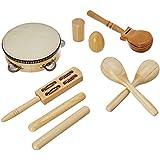 Delson LT7 Malette de 7 Instruments percussion Naturel