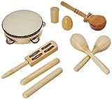 Delson LT7 Set aus 7 Schlaginstrumenten / Percussion-Instrumenten, mit Rucksack