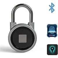Fingerabdruck-Bluetooth-Vorhängeschlösser Anti-Diebstahl-Keyless-Verschluss Mit USB-Gebühr, Wasserdichtes Bewegliches IOS / Android-APP-Knopf-Steuer-Intelligentes Fernverriegeln Für Kabinett / Gepäck / Rucksack / Im Freien