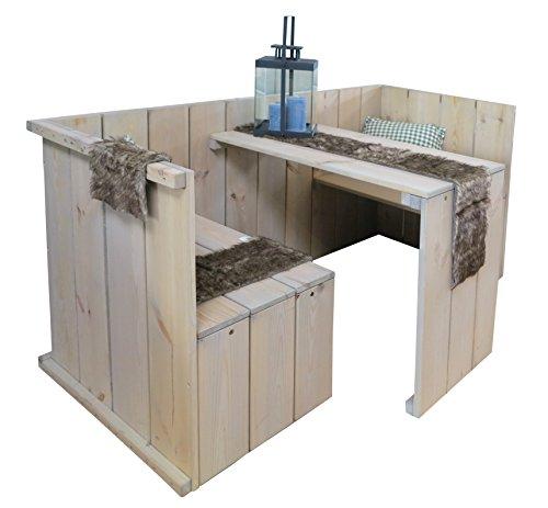 osoltus Gartenbank mit Tisch Sitzbank aus Holz Toronto Tete a Tete