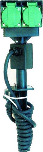 Smartwares 7550/2 Outdoor Steckdosenleiste – 4 geerdete Dosen – 2 Meter Neoprenkabel