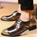 Zapatos de hombre Boda / oficina / Carrera / Fiesta & Noche / Charol Oro Oxfords casuales golden-us8.5-9 / ue41 / Reino Unido /7.5-8 CN42