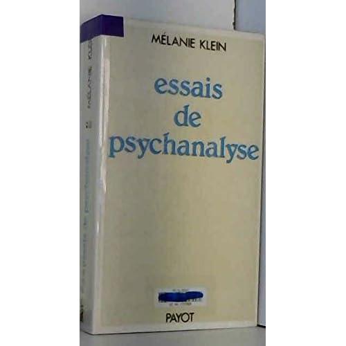 Essais de psychanalyse, 1921-1945