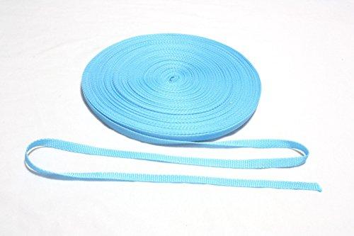 10 mm blaues Nylon-Gurtband aus Polypropylen, Stoffbänder, Leine für Haustiere 50 yard blau -