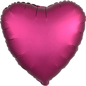 Amscan International 3618602 - Globo metálico con forma de corazón, Sd-H:Corazón color oro rosa.