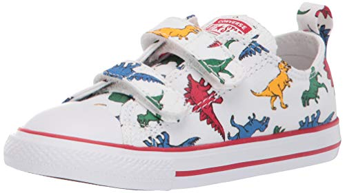 Converse Chuck Taylor All Star 2V OX 763713C Kleinkinder-Schuhe White/Enamel Red Gr. 22 (US 6)
