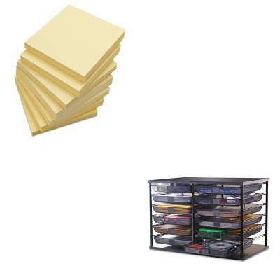 kitrub1735746unv35668 – Value Kit – Rubbermaid 12-compartment Organizer mit Mesh Schubladen (rub1735746) und Universal Standard selbstklebend Noten (unv35668) - Organizer Schublade Rubbermaid