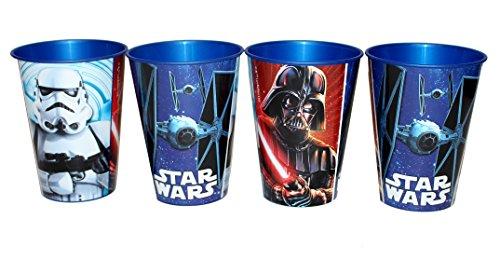 4 Stück Star Wars Trinkbecher Saftbecher Becher Set (Star Wars Becher)