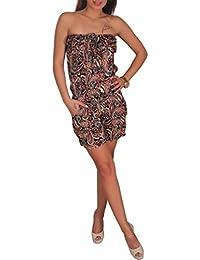 70e045cc5b70 Candygirls Bandeu Aztek Overall kurz Gummizug Mini Jumpsuit Einteiler  Stretch Hosen Anzug Etno Aztec PA102
