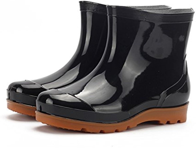 Männer Mid Kalb Regen Stiefel Wasser Schuhe Low Damen Slip on Kurze Stiefel Car Wash Arbeit Angeln