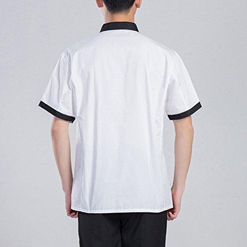 Zhuhaitf Haute qualité White Simplicity Short Sleeve Uniform Unisex Hotel Chef Clothes white