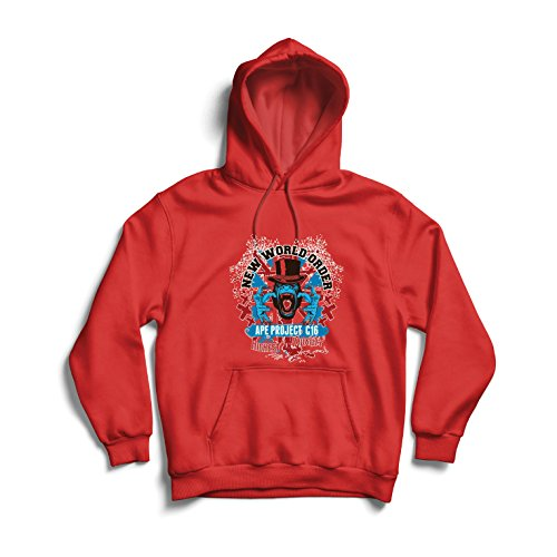 lepni.me Kapuzenpullover Neue Weltordnung - politischer Widerstand, Protestkleidung (Large Rot Mehrfarben)