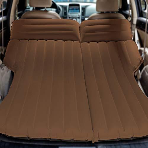 ZAQI Auto Materasso Gonfiabile Sedile Posteriore per impieghi gravosi SUV, Materasso Gonfiabile da Viaggio per Auto da Campeggio, Marrone, carico 250 kg, 195 × 140 × 10 cm