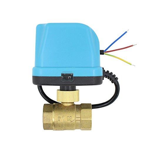 n kugelventil elektrisch 12v 24v DC 2 wege ventil elektrisch 1/2 3/4 1 1-1/4 1-1/2 2 zoll (DC 12V, 1 zoll DN25) ()