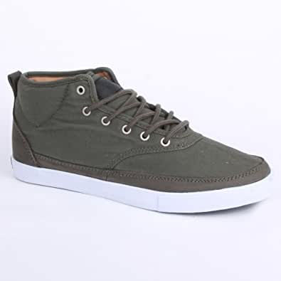 Globe Quantum Mid Mens Laced Canvas & Nubuck Trainers Olive - 8