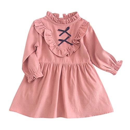 i-uend 2019 Mädchen Frühling Kleid - Kleinkind Kinder Baby Langarm Strampler Prinzessin Kleid Outfits Kleidung Für 0-24 Monate