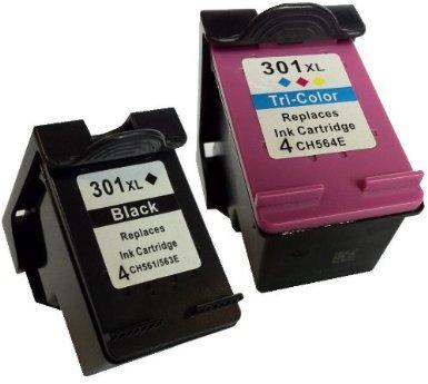 COMBO PACK - Remanufacturados HP 301XL Cartuchos de Tinta para Impreso