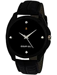 Golden Bell Original Black Dial Black Strap Analog Wrist Watch For Men - GB-974