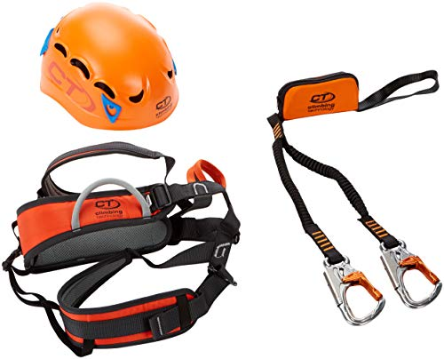 Climbing Technology Plus Kit Ferrata, Casco con Imbrago Set, M-L