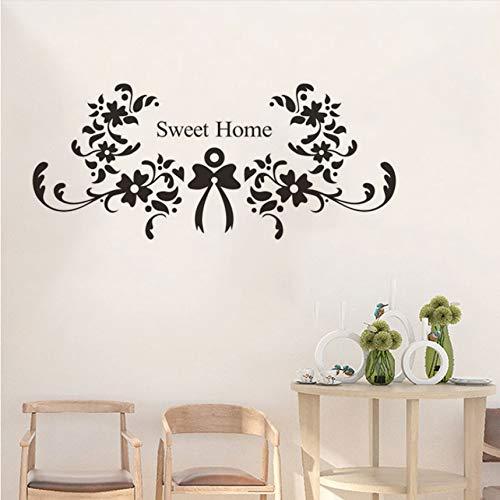 Wuyyii 57X25 Cm Elegante Blume Reben Pvc Wandaufkleber Schlafzimmer Sofa Hintergrund Wand Wasserdichte Wand Diy Dekoration