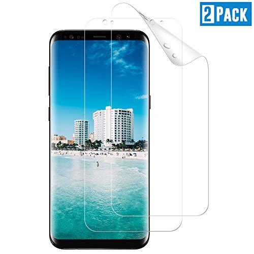 TOIYIOC [2 Stück] Schutzfolie für Samsung Galaxy S8, [Vollständige Abdeckung] Ultra-klar Folie, Displayschutzfolie kompatibel Samsung Galaxy S8