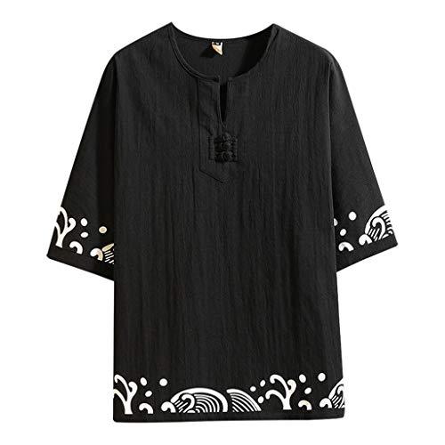UINGKID Herren T-Shirt Kurzarm Slim fit Baumwolle Herren Sommer Casual Retro Druck Leinen Halbarm s Top Bluse (Batman Muskel Brust)