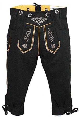 Kostüm Kind Lederhosen - German Wear Jungen Kniebundhosen Kinder Hose Jeans Hose kostüme mit Hosenträgern, Farbe:Schwarz, Größe:128